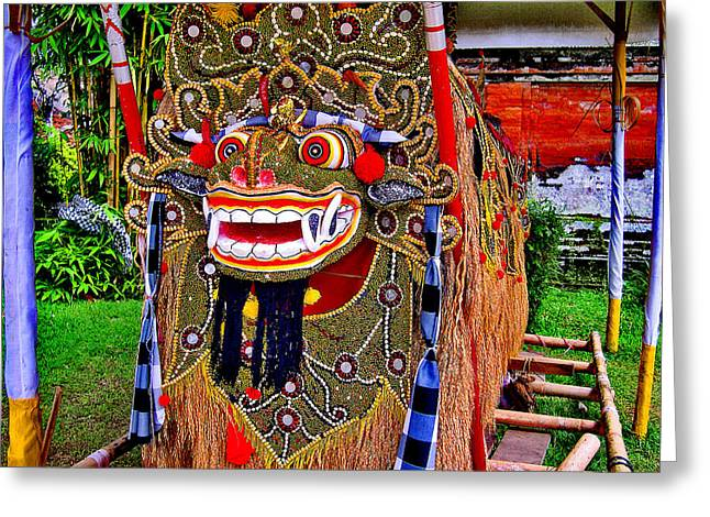 Greek Sculpture Greeting Cards - Dragon. Bali. Greeting Card by Andy Za