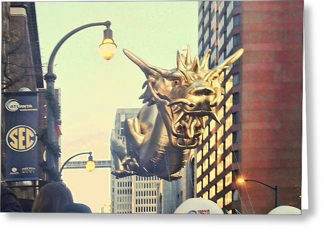 Sec Greeting Cards - Dragon Balloon in Christmas Parade Greeting Card by Lucas Skywalker