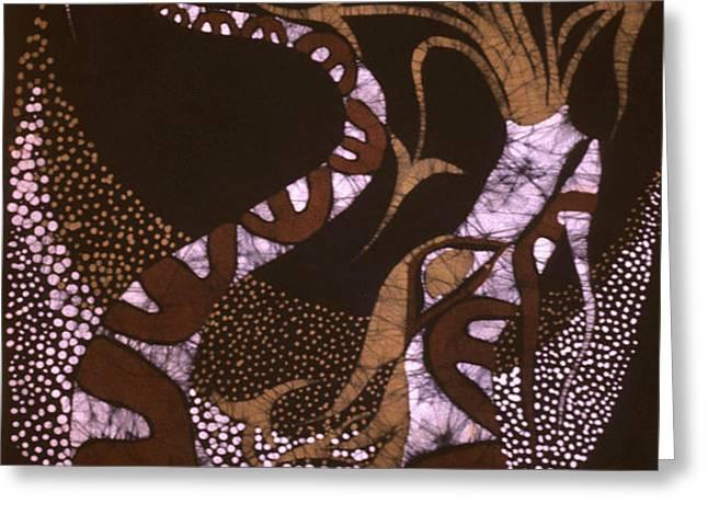 Dragon Breathing Arrows Greeting Card by Carol Law Conklin
