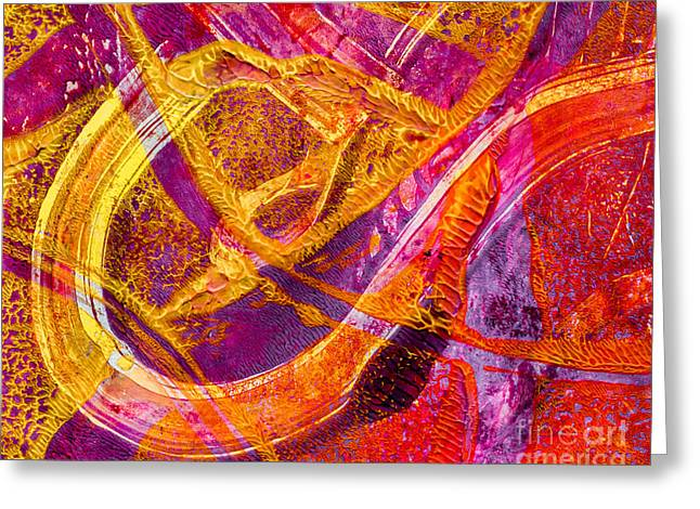 Abstract Digital Mixed Media Greeting Cards - Dragon Clasp Greeting Card by Laura L Leatherwood