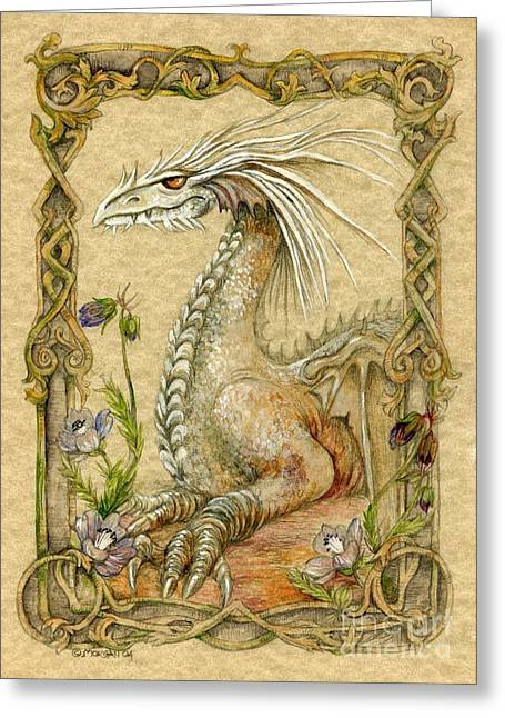 Dragons Greeting Cards - Dragon Greeting Card by Morgan Fitzsimons