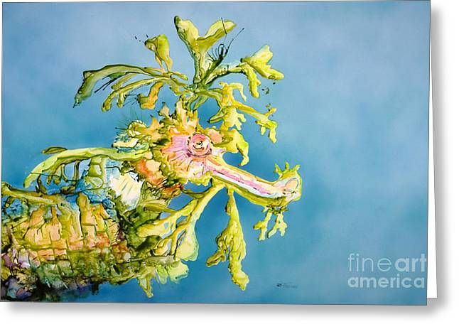 Leafy Sea Dragon Greeting Cards - Dragon of the Sea Greeting Card by Tanya L Haynes - Printscapes
