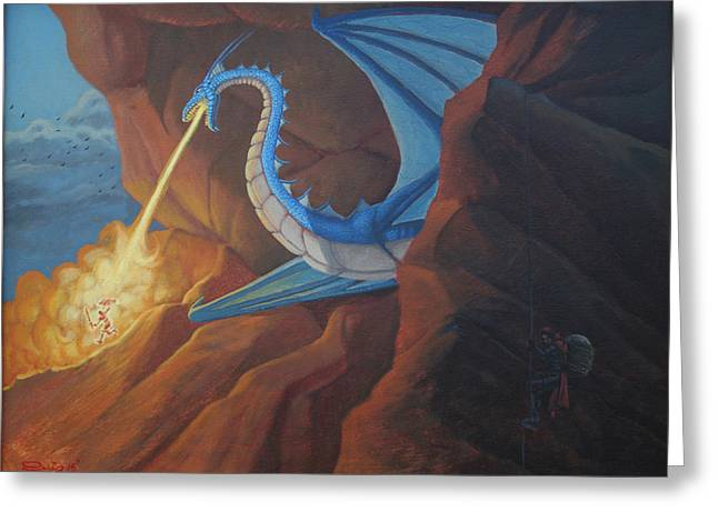 Dungeons Greeting Cards - Dragon Roost Greeting Card by Juan Ruiz