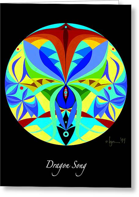 Survivor Art Paintings Greeting Cards - Dragon Song Greeting Card by Angela Treat Lyon
