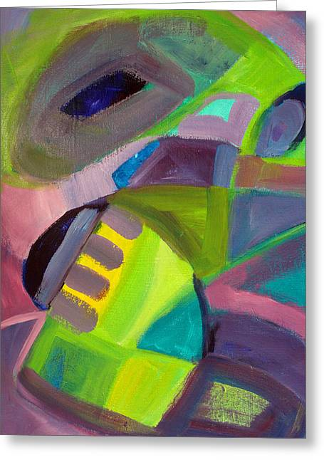 Abstract Shapes Greeting Cards - Dragon Tongue Greeting Card by Nancy Merkle