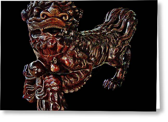 Allegoric Greeting Cards - Dragon. Wat Pho. Bangkok. SIAM. The Kingdom of Thailand. Greeting Card by Andy Za
