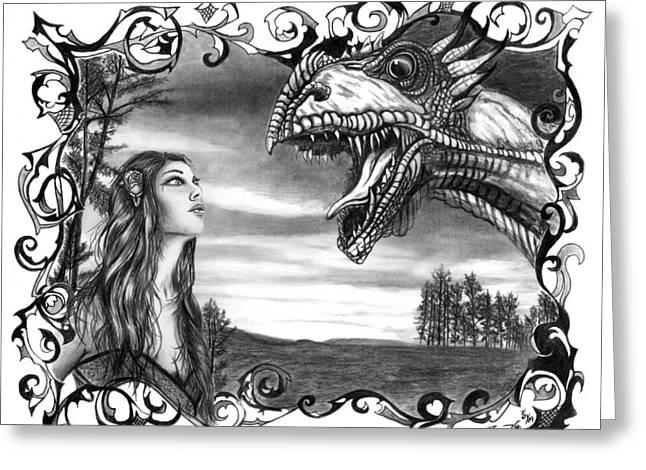 Dragon Whisperer  Greeting Card by Peter Piatt