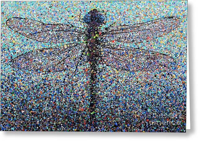 Dragonfly #1 Greeting Card by Michael Glass