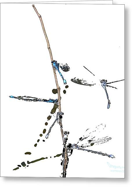 Duke Island Park Greeting Cards - Dragonfly Hotel Art Greeting Card by Warren M Gray