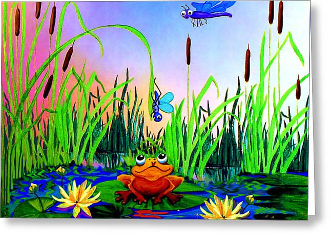 Dragonfly Pond Greeting Card by Hanne Lore Koehler