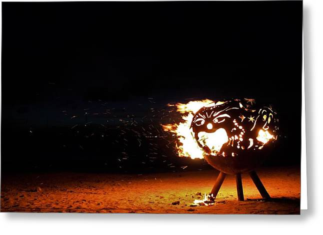 Firepit Greeting Cards - Dragons Breath Greeting Card by Karl Anderson
