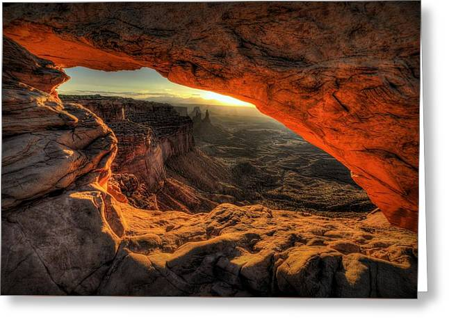 Southern Utah Greeting Cards - Dragons Eye Greeting Card by Ryan Smith