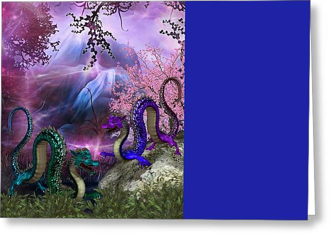 Greeting Cards - Dragons  Greeting Card by G Berry