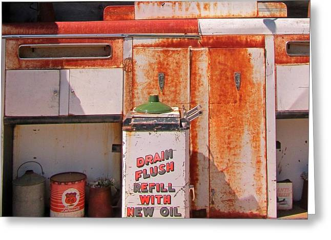 Drain Flush Refill With New Oil Greeting Card by John Malone