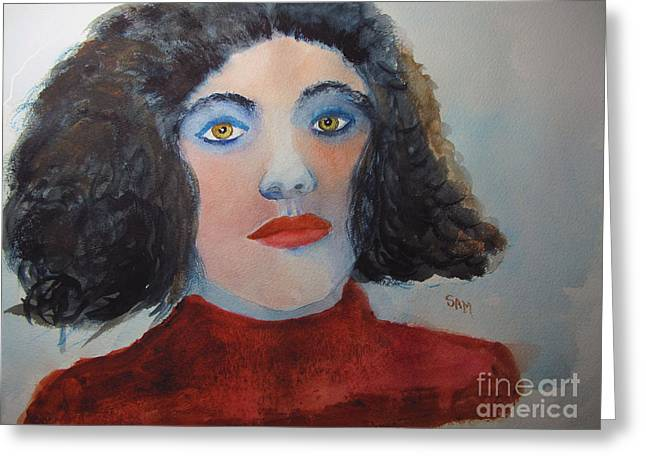 Eyebrow Greeting Cards - Drama Queen Greeting Card by Sandy McIntire