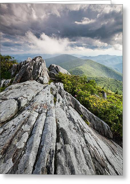 Summer Storm Photographs Greeting Cards - Dramatic Blue Ridge Mountain Scenic Greeting Card by Mark VanDyke