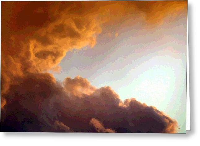 Colorful Cloud Formations Digital Greeting Cards - Dramatic Cloud Painting Greeting Card by Will Borden