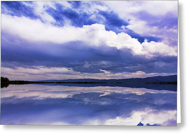 Eerie Greeting Cards - Dramatic Clouds Of A Coming Storm Greeting Card by Daphne Sampson