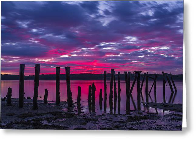 Coastal Maine Greeting Cards - Dramatic Maine Sunrise Greeting Card by John Vose