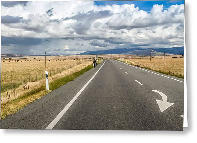 Dramatic Road To Segovia Greeting Card by JR Photography