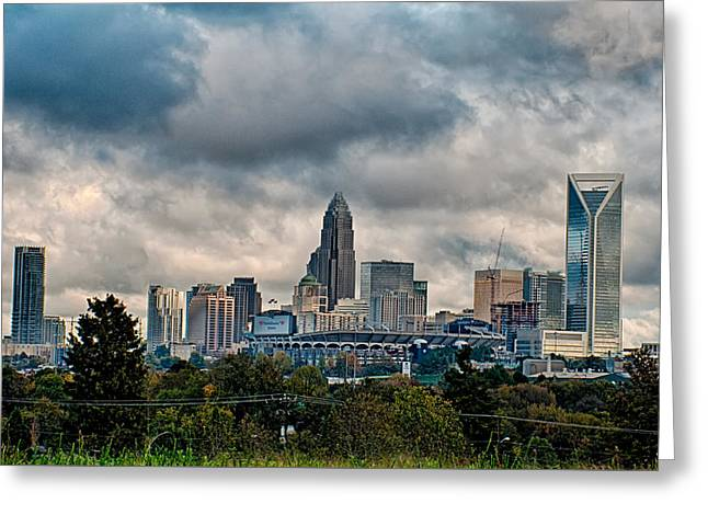 Dramatic Sky And Clouds Over Charlotte North Carolina Greeting Card by Alexandr Grichenko