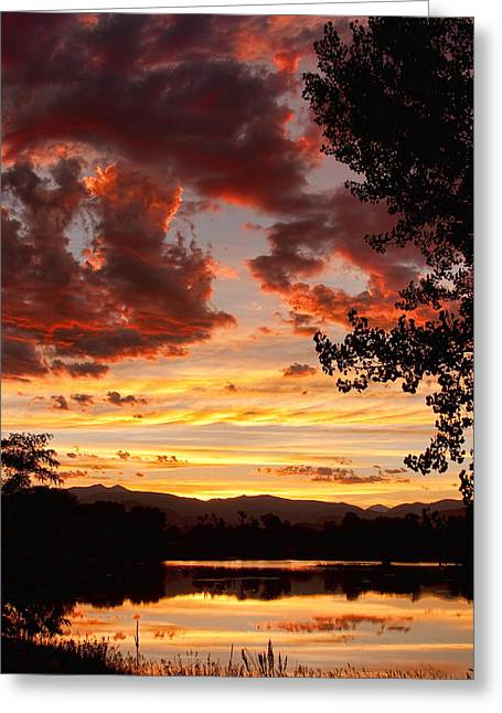 Colorful Sunset Greeting Cards Greeting Cards - Dramatic Sunset Reflection Greeting Card by James BO  Insogna