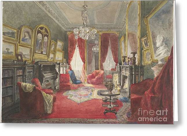Drawing Room Of The Fogg Residence Greeting Card by MotionAge Designs