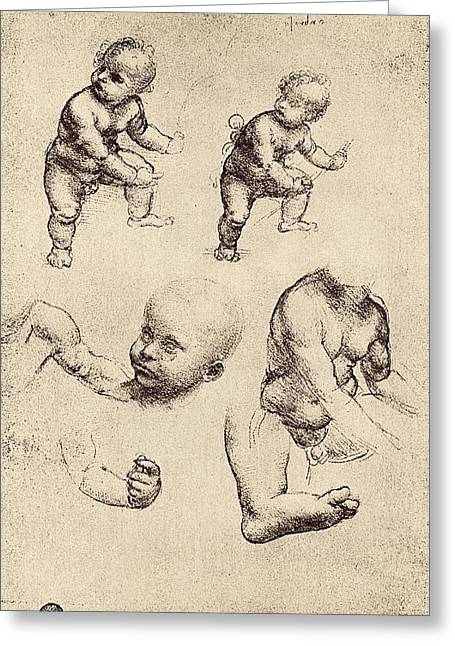 Development Greeting Cards - Drawings Of A Child Greeting Card by Sheila Terry