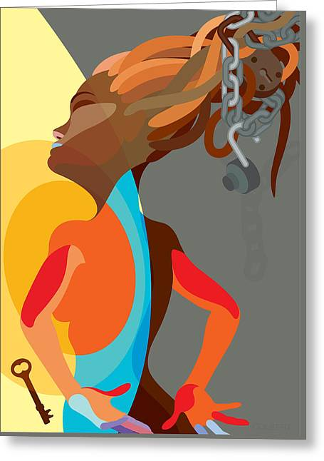 Dread Locks Greeting Cards - Dread Locked Greeting Card by Michael Colbert