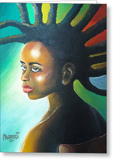 African-americans Greeting Cards - Dreadlocks Rasta Greeting Card by Anthony Mwangi