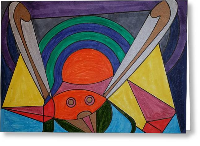 Geometric Art Greeting Cards - Dream 104 Greeting Card by S S-ray