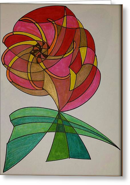 Geometric Design Greeting Cards - Dream 14  Greeting Card by S S-ray