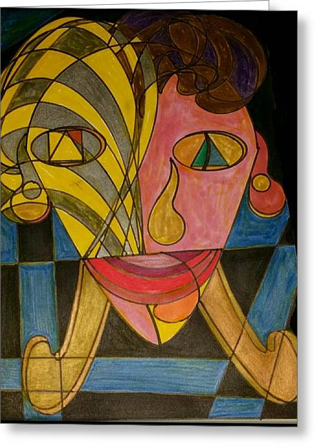 Geometric Art Greeting Cards - Dream 43  Greeting Card by S S-ray