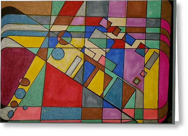 Geometric Art Greeting Cards - Dream 59 Greeting Card by S S-ray