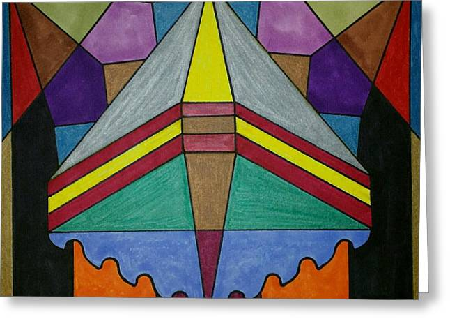 Tiled Tapestries - Textiles Greeting Cards - Dream 75 Greeting Card by S S-ray