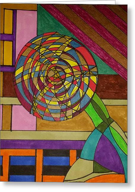 Geometric Art Greeting Cards - Dream 81 Greeting Card by S S-ray