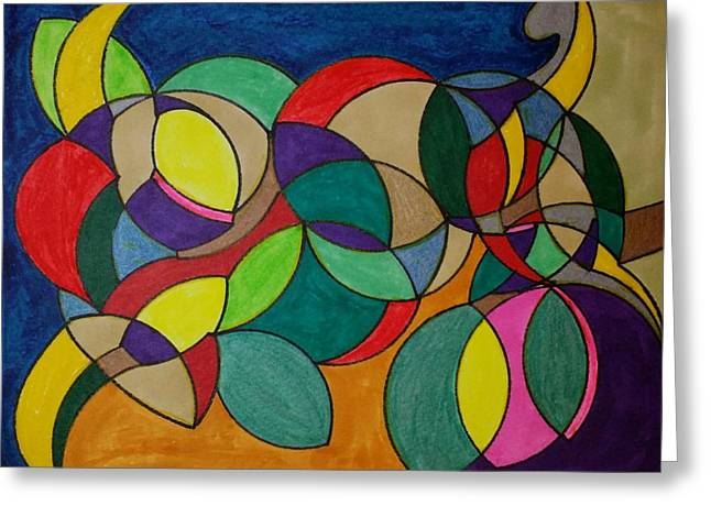 Geometric Art Greeting Cards - Dream 87 Greeting Card by S S-ray