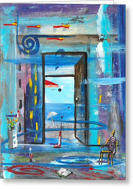 Dream  Greeting Card by Angel Ortiz