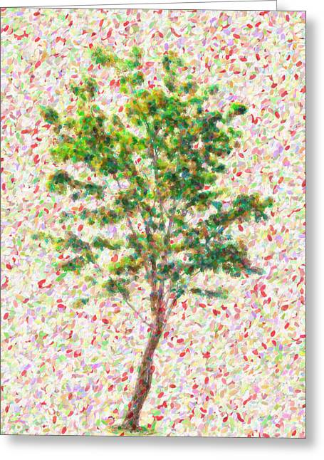 Seurat Greeting Cards - Dream argument Greeting Card by Taylan Soyturk