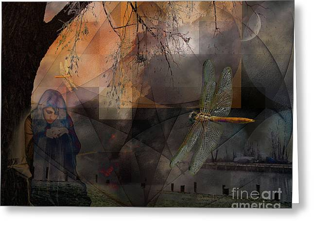 Subconscious Digital Art Greeting Cards - Dream Bearers Greeting Card by Mimulux patricia no