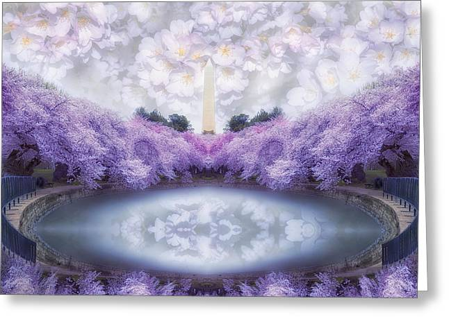 Dream Scape Greeting Cards - Dream Blossoms Greeting Card by Larry Helms
