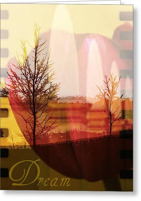Tulip Tree Digital Art Greeting Cards - Dream Greeting Card by Cathie Tyler