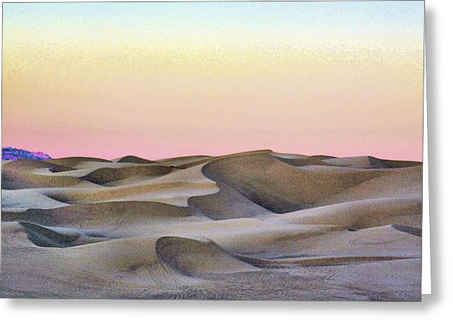 Sand Dunes Pyrography Greeting Cards - Dream Dunes 0084 Greeting Card by Sharon Broucek