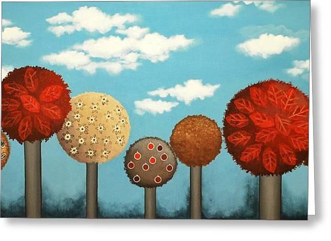 Dream Grove Greeting Card by Graciela Bello