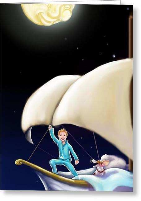 Pajamas Greeting Cards - Dream Greeting Card by Heidi Rissmiller