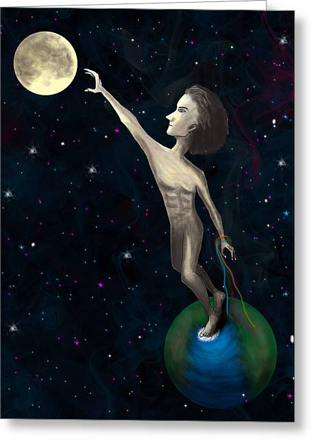 Goals Sculptures Greeting Cards - Dream Greeting Card by Himel Anthony