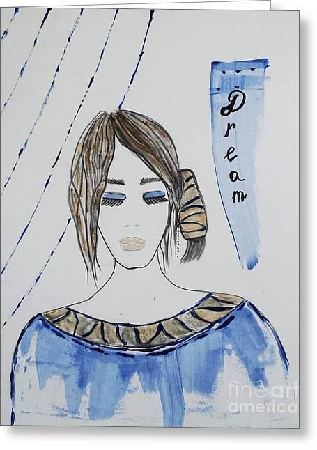 Art Book Greeting Cards - Dream Greeting Card by Jasna Gopic