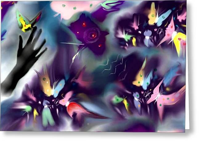 Haze Paintings Greeting Cards - Dream Greeting Card by Karunita Kapoor