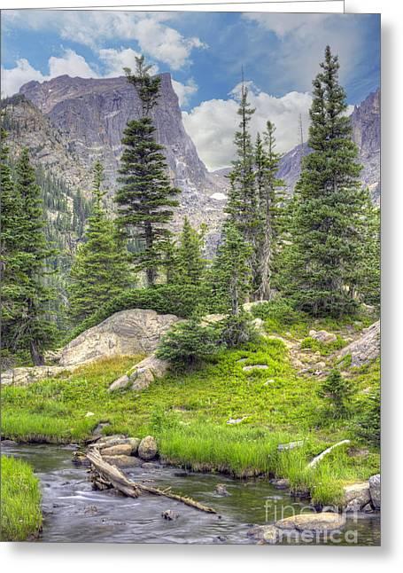 Dream Lake Greeting Card by Juli Scalzi