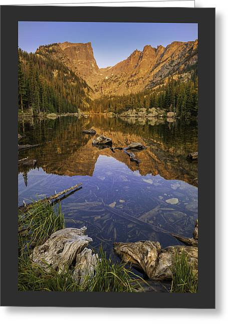 Nature Scene Greeting Cards - Dream Lake Moments Greeting Card by Thomas Schoeller